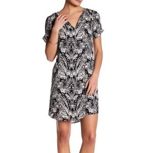 NWT So Cute Daniel Rainn Black & White Print Dress